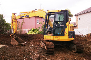 地中埋設物の確認、整地イメージ画像